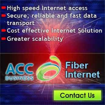 Get High Speed ACC Fiber Internet Connection that offers secure, reliable and fast data transport, greater reliability and cost effective Internet Solution.