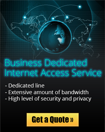 Dedicated Internet Access Service is ideal for busy businesses that require a great deal of bandwidth.
